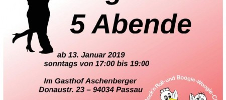 West Coast Swing Beginners ab 13.01.2018 im Gasthof Aschenberger Passau Grubweg