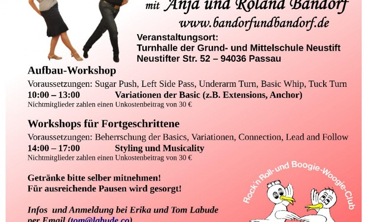 West Coast Swing Seminar mit Anja u. Roland Bandorf am 16.02.2019