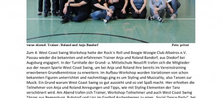 4. West Coast Swing Workshop mit Anja u. Roland Bandorf